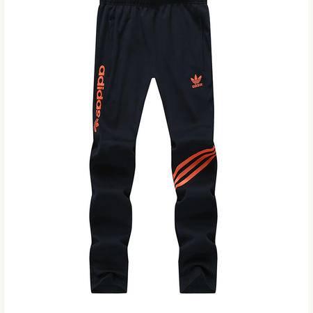 Adidas阿迪达斯三叶草新款运动服长裤男士针织透气修身休闲收口小脚卫裤