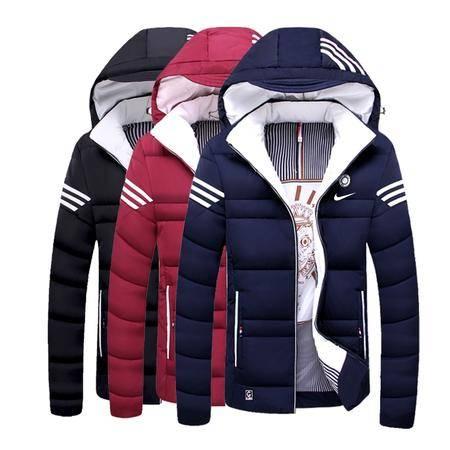 Nike耐克新款男士棉衣外套棉服加厚青少年保暖长袖开衫夹克连帽棉袄学生休闲上衣