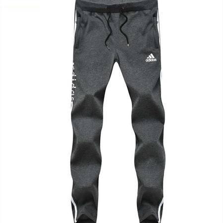 Adidas阿迪达斯运动裤新款男士小脚裤子加绒加厚大码保暖跑步休闲长裤卫裤