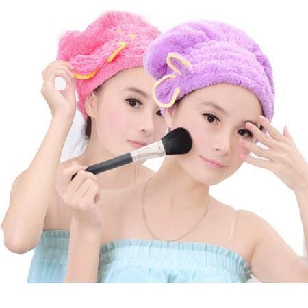 包邮韩国超强吸水干发帽加厚浴帽可爱擦头发速干毛巾珊瑚绒干发巾