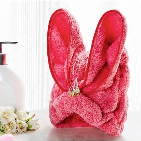 加大加厚珊瑚绒干发帽超强吸水浴帽韩国进口可爱包头巾快速干发巾