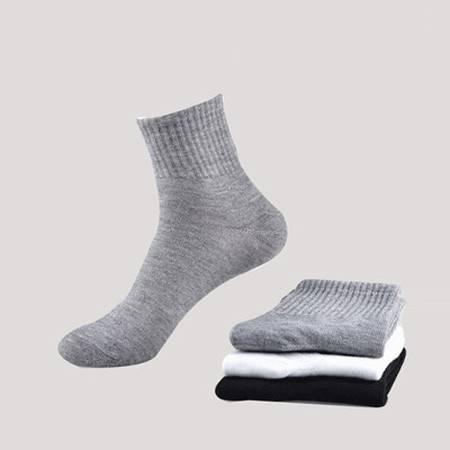 5双男袜子中筒袜竹纤维袜子吸汗透气防臭男人袜中筒袜