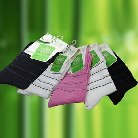 5双装民心竹纤维袜子女袜透气棉袜防臭春秋冬季中筒袜