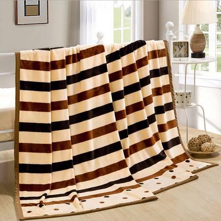 民心 云貂绒床上用品法兰绒毛毯 【加厚】毯子空调毯裸婚时代
