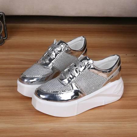 女鞋休闲鞋2016夏季新款贝壳鞋运动韩版潮鞋子低帮板鞋 粉色