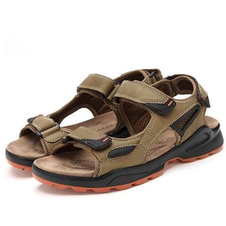 夏季凉鞋日常休闲透气鞋沙滩鞋防滑凉拖鞋头层牛皮男鞋
