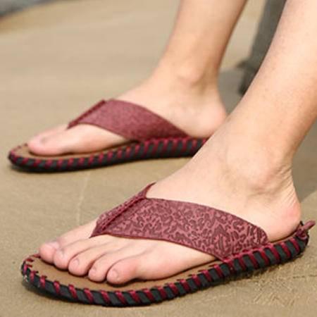 2016夏季男士凉鞋男凉拖鞋潮休闲露趾人字拖沙滩鞋凉皮鞋男鞋