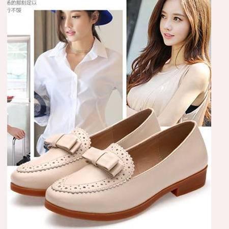 2016春季新款女鞋英伦中跟休闲单鞋女鞋尖头粗跟皮鞋女鞋