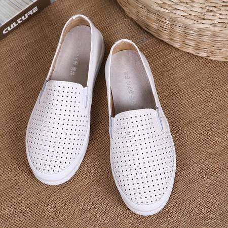 夏季韩版休闲鞋内增高女鞋透气镂空乐福鞋