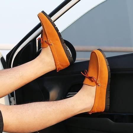 2016新款豆豆鞋男真皮夏韩版透气休闲男鞋子开车鞋低帮套脚懒人鞋