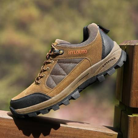 时尚潮鞋防滑徒步鞋男透气户外登山鞋男士减震耐磨鞋