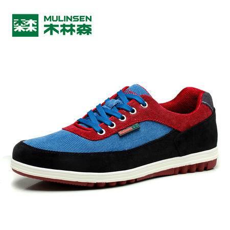 木林森男鞋2016春季韩版帆布鞋潮鞋男士运动休闲板鞋透气跑步鞋子