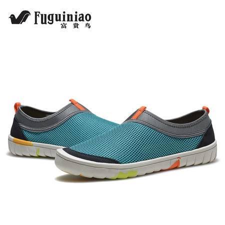富贵鸟男鞋休闲鞋2016新款男士夏季休闲凉鞋沙滩鞋透气轻便网布鞋