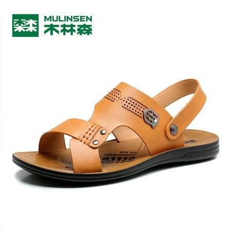 木林森2016夏季两用拖鞋时尚都市沙滩鞋凉拖凉鞋休闲轻质防滑男鞋