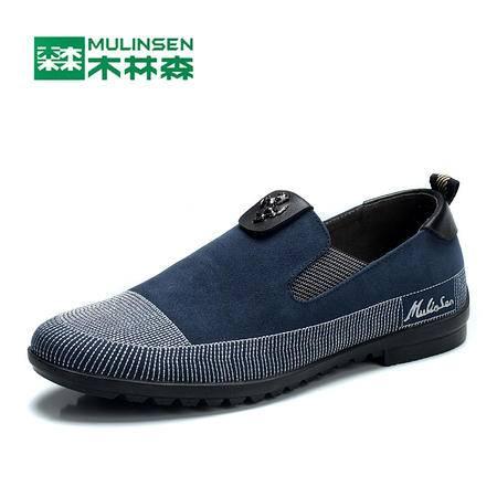 木林森男鞋正品鞋2016春秋新款英伦休闲鞋韩版潮流布鞋木森林板鞋