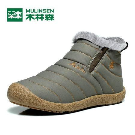 木林森靴防水布靴短靴棉靴 款靴子潮鞋雪地靴男滑雪 高帮冬季新款