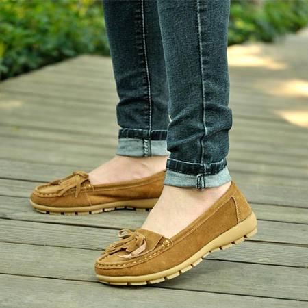 新款真皮休闲女鞋秋季低跟百搭单鞋韩潮复古系带平底