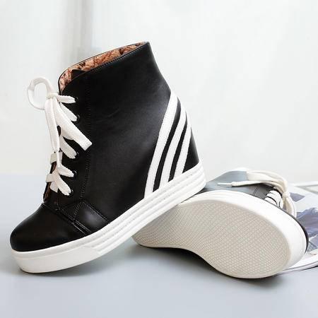 2016秋冬运动鞋厚底板鞋小白鞋女休闲鞋学生女时尚短靴透气单鞋子