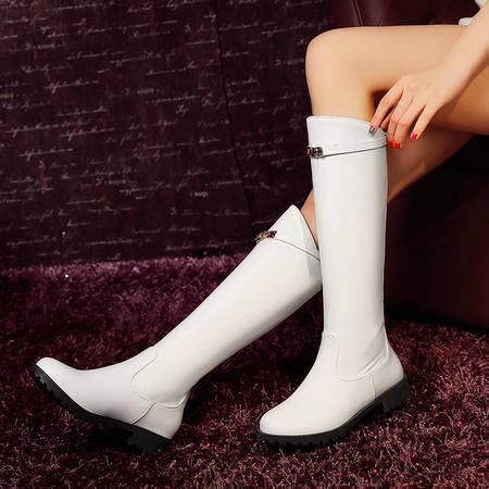 中跟骑士靴两穿及膝长靴平底高筒靴2016秋冬女靴子潮靴