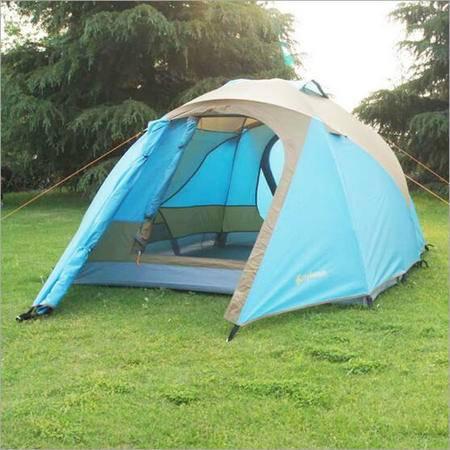 户外野营帐篷 露营双人双层折叠帐篷 防雨沙滩帐蓬【包邮】