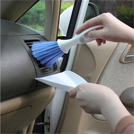 汽车空调出风口刷 汽车缝隙刷子 清洁刷子 角落刷子 仪表盘刷(2个)