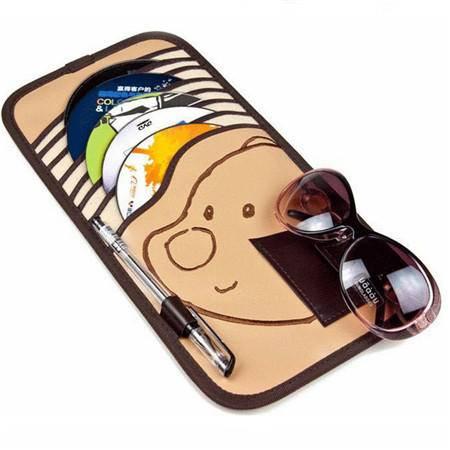 小熊CD夹车用遮阳板套 多功能卡通车载cd包 汽车用品收纳袋