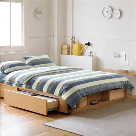 欧的家纺纯棉中条欧美时尚风全棉四件套床品1.5-1.8m