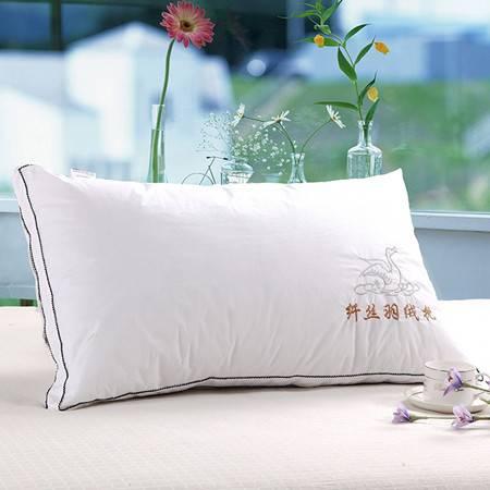欧的家纺全棉防羽布羽丝绒高档酒店枕芯枕头