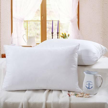 欧的家纺全棉立体纯白五星级酒店羽丝绒枕芯枕头