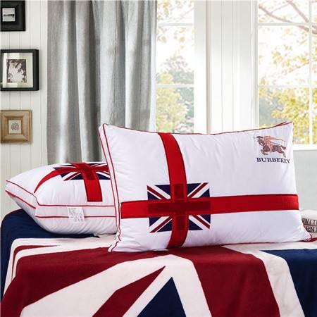 欧的家纺床上用品婚庆羽丝绒枕芯立体枕头