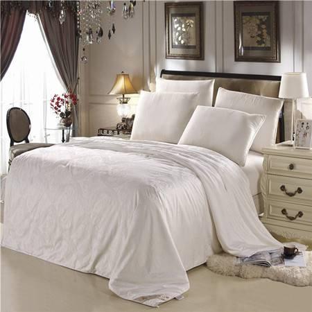 欧的家纺床上用品60贡缎优等品纯手工桑蚕丝长丝被芯被子1.8米床8.6斤冬被