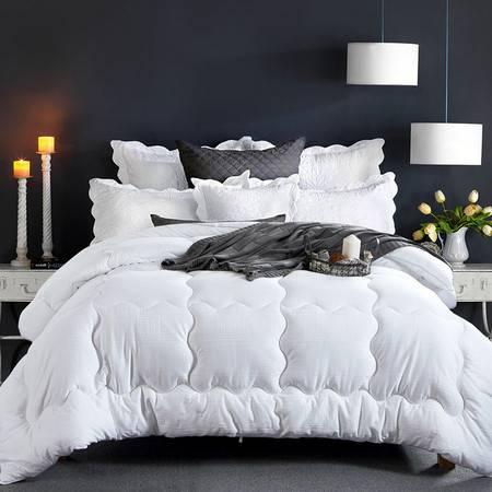 欧的家纺纯棉小提花羽丝被全棉舒适透气保暖被1.5-1.8-2.0米床铺