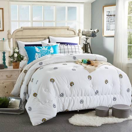 欧的家纺全棉斜纹冬被纯棉舒适透气秋冬被1.5-1.8米床铺