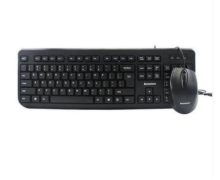 联想FBL322有线鼠标键盘套装台式笔记本电脑有线键鼠套件家用商用