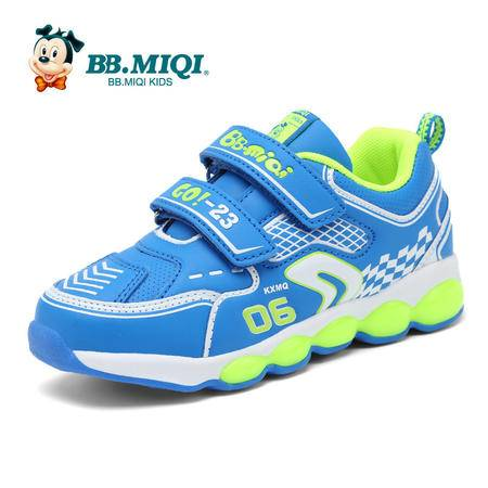 百变米奇童鞋男童鞋2016春季新款跑步儿童运动鞋革面休闲鞋儿童鞋