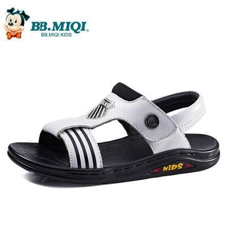 百变米奇男童凉鞋子2016夏季新款真皮童鞋露趾潮流沙滩鞋儿童凉鞋
