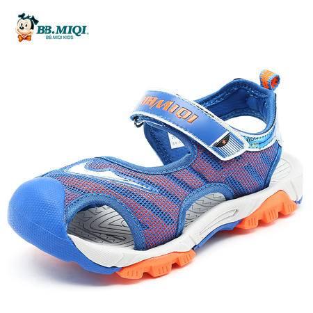 百变米奇男童凉鞋2016夏季新款包头凉鞋儿童鞋开心米奇沙滩鞋中童