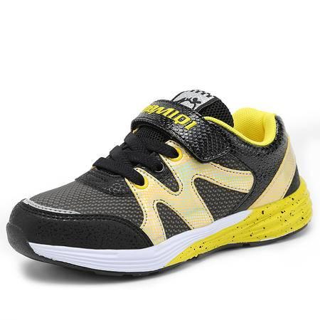百变米奇童鞋2016春季新款男童鞋革面女童鞋跑步休闲鞋儿童运动鞋