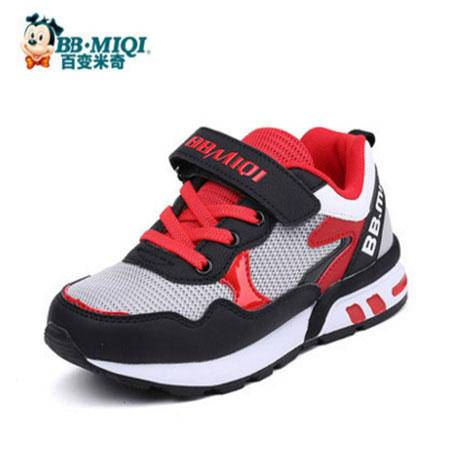 百变米奇童鞋男童鞋2016秋季新款女童鞋透气网面休闲鞋儿童运动鞋