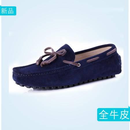 2016秋季真皮男士豆豆鞋英伦牛皮休闲鞋爆款男鞋