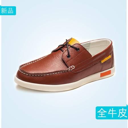 秋季男士真皮豆豆鞋真皮单鞋低帮韩版潮流板鞋平底跟舒适