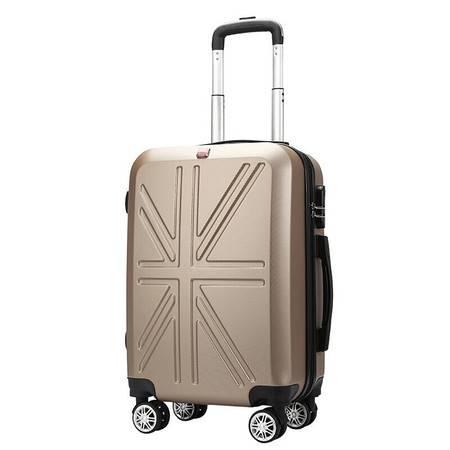 瑞吉仕 拉杆箱万向轮行李箱商务男登机箱女20英寸旅行箱【简约拉链款】 20英寸
