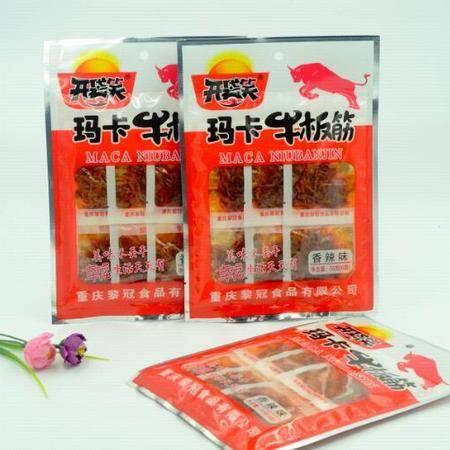 开袋笑玛卡牛板筋香辣烧烤味重庆特产55g/袋