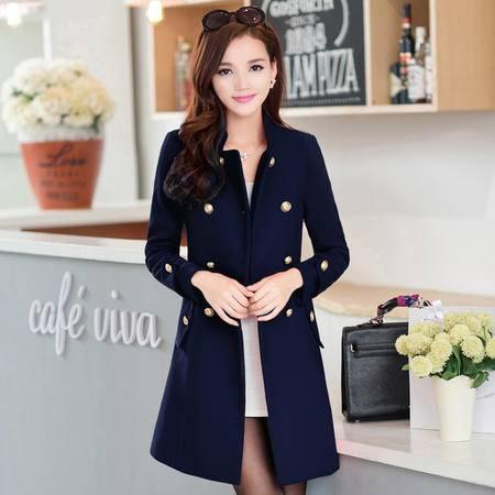 女装冬装2016新款韩版加厚斗篷毛呢外套女中长款修身呢子大衣女款
