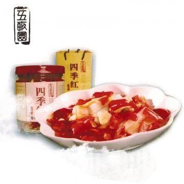 四季红腌红辣椒片500g 安徽桐城特产