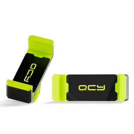 QCY QZ01车载支架 出风口迷你创意配件 多功能安卓手机 通用型黑绿色官方标配