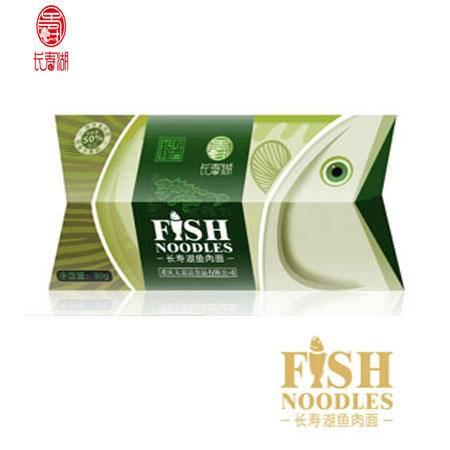 长寿湖 鱼肉面 鱼型装 80克