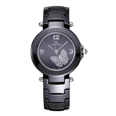 华伦天奴(Valentino)手表瑞士陶瓷石英女表 防水时尚镶钻女士手表 GV8507XL-E