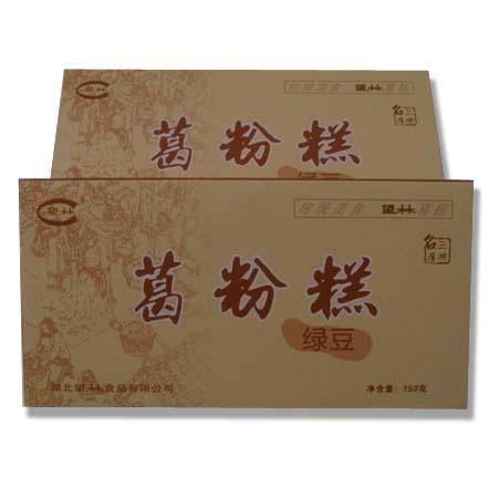 望林葛粉纯天然 湖北宜昌三峡特产 深山葛根 野生葛粉糕150g盒装绿豆味