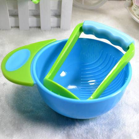 宝宝手动食物研磨碗研磨棒套装